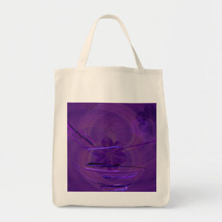 Purple Rice Bowl Abstract Art Canvas Bag