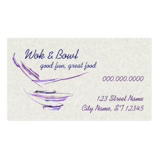 Purple Rice Bowl Abstract Art Business Card Templates