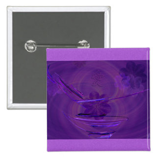 Purple Rice Bowl Abstract Art Buttons
