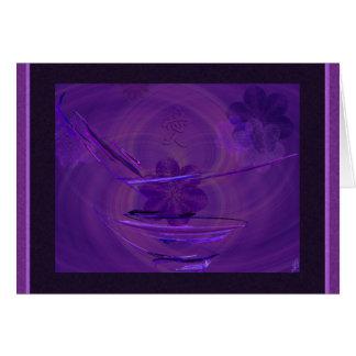 Purple Rice Bowl Abstract Art Greeting Card