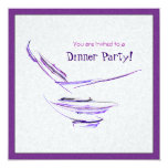 Purple Rice Bowl Abstract Art Personalized Announcements