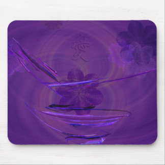 Purple Rice Bowl Abstract Art Mouse Pad