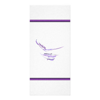 Purple Rice Bowl Abstract Art Rack Card Template
