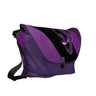 Purple rings & sphere courier bags