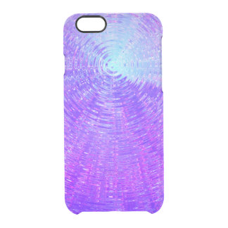 Purple Ripples Clear iPhone 6/6S Case