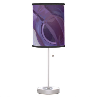 Purple Ripples Desk Lamp