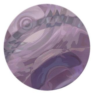 Purple Ripples Dinner Plate