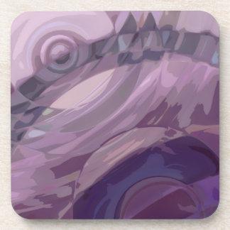 Purple Ripples Drink Coaster