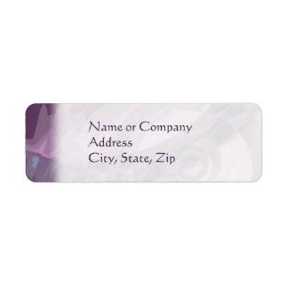 Purple Ripples Return Address Label