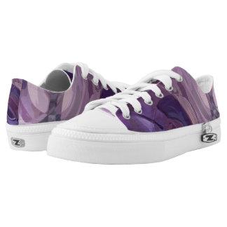Purple Ripples Low-Top Sneakers