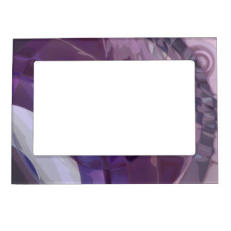 Purple Ripples Magnetic Photo Frame