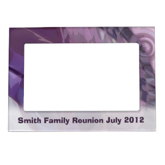 Purple Ripples Magnetic Picture Frame
