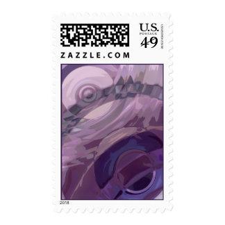 Purple Ripples Postage Stamps