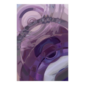 Purple Ripples Poster
