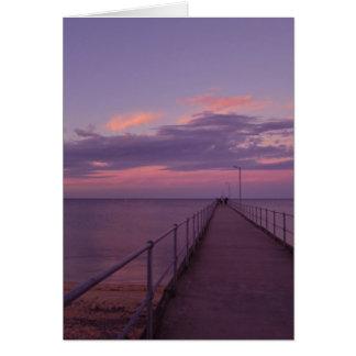 Purple Ripples, Stansbury, South Australia, Card
