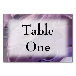 Purple Ripples Table Cards