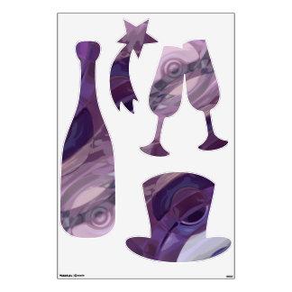 Purple Ripples Wall Sticker