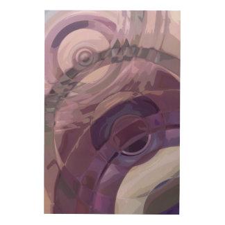 Purple Ripples Wood Wall Art
