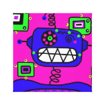 Purple Robot Portrait Canvas Prints