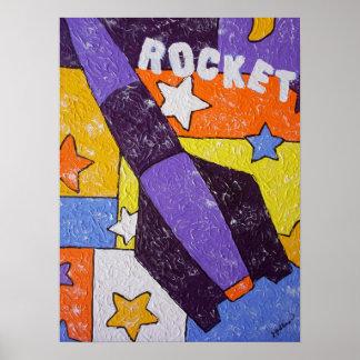 Purple Rocket Print