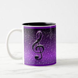 Purple Rocks!_ Two-Tone Coffee Mug