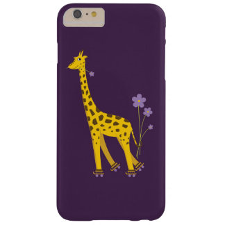 Purple Roller Skating Funny Cartoon Giraffe Barely There iPhone 6 Plus Case
