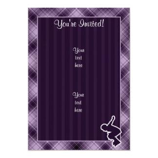Purple Rollerblading Card