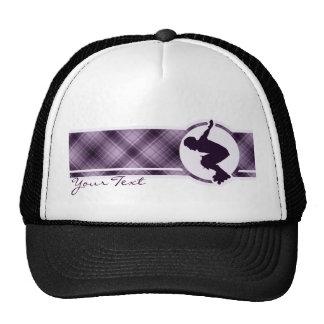 Purple Rollerblading Trucker Hat