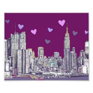 purple romantic New York Photo Print