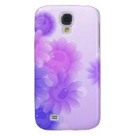 Purple romantic vintage flowers samsung galaxy s4 cases