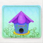 Purple Roof Birdhouse Mousepad