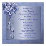 Purple Rose 25th Wedding Anniversary Party Invite