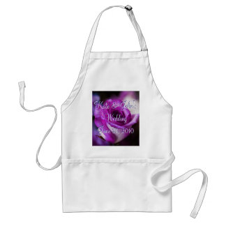 Purple Rose Adult Apron