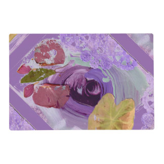 Purple Rose and Butterfly reversible place mat