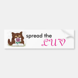 Purple Rose and Kitten Bumper Sticker