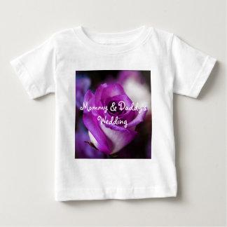 Purple Rose Baby T-Shirt