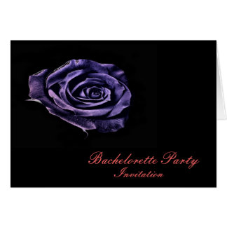 Purple rose Bachelorette  party invitation Greeting Card