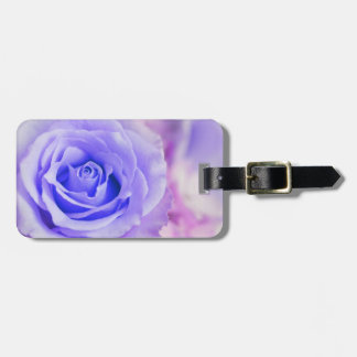 Purple Rose Background Customized Template Luggage Tag
