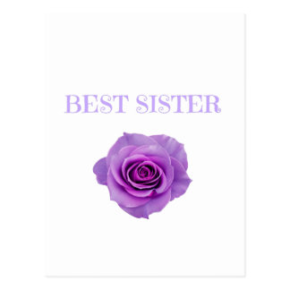 Purple Rose Best Sister Postcard