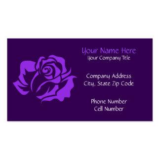 Purple Rose Bloom Customizable Business Card
