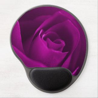 Purple rose blossom macro gel mouse pad