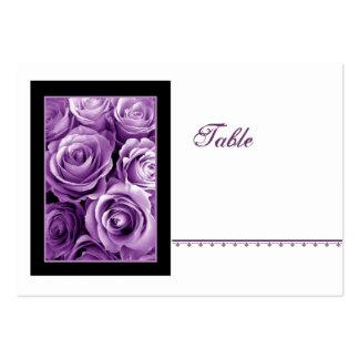 PURPLE Rose Bouquet Place Card - Wedding Reception Business Card