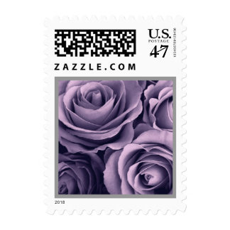 PURPLE Rose Bouquet Wedding Stamp - Small