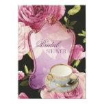"purple rose Bridal Shower Tea Party Invitation 4.5"" X 6.25"" Invitation Card"