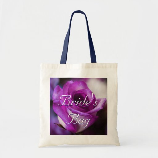 Purple Rose Bride Canvas Bags