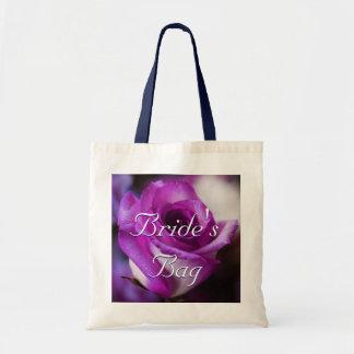 Purple Rose Bride Tote Bag