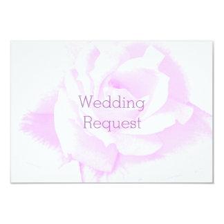 Purple Rose Bridesmaid Request Card