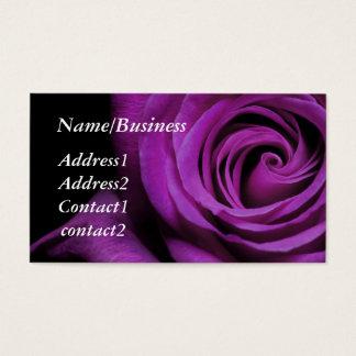 Purple Rose Business Card