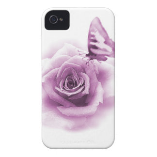 Purple Rose Butterfly iPhone 4 Case-Mate Case