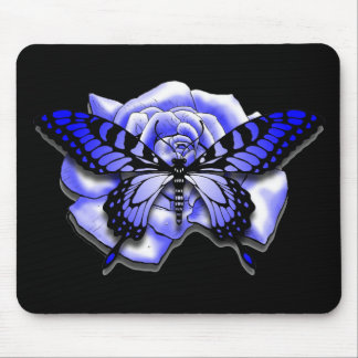 Purple Rose Butterfly Mousepad